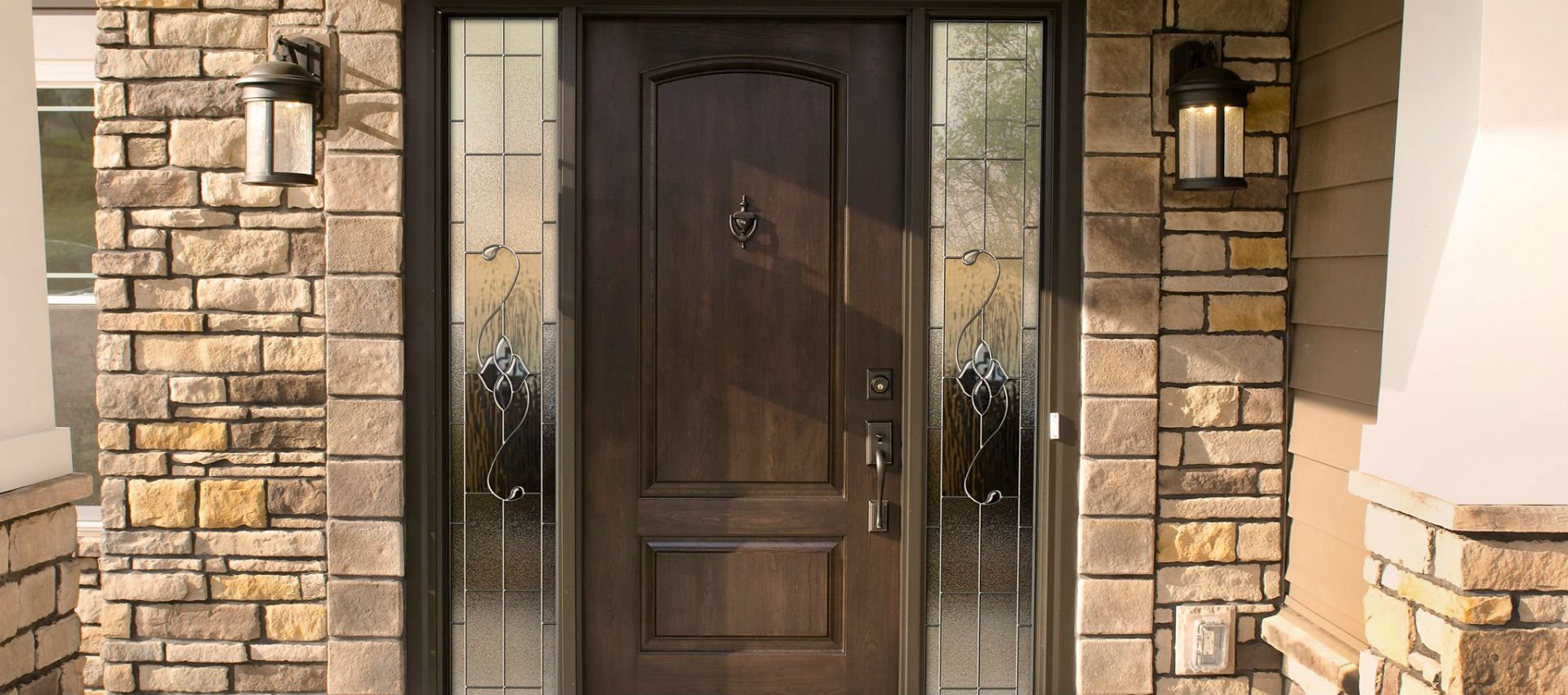 Storm entry door installation in Buffalo